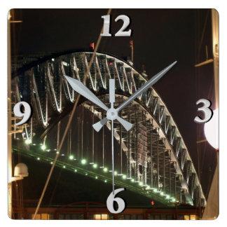 Reloj Cuadrado Puente del puerto