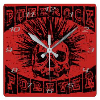 Reloj Cuadrado punk rock para siempre
