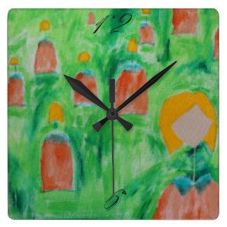 Reloj Cuadrado Reloj cuadrado que camina 2 de las señoras