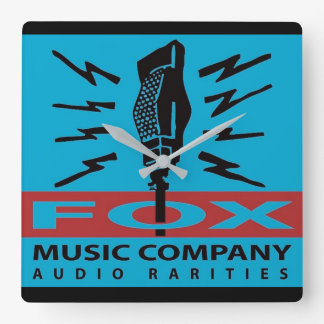 Reloj Cuadrado Rarezas del audio de Fox Music Company