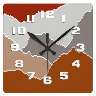 Reloj Cuadrado Rasgado