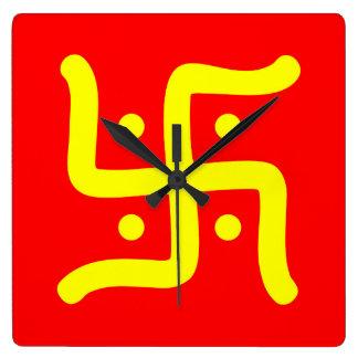 Reloj Cuadrado religión hindú tradicional india del símbolo de la