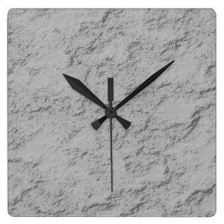 Reloj Cuadrado Roca gris