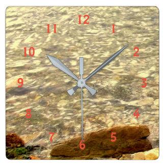 Reloj Cuadrado Rocas costeras