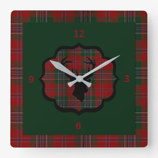 Reloj Cuadrado Rojo principal de los ciervos