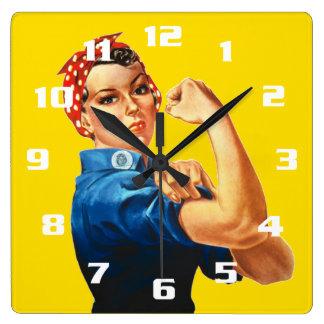 Reloj Cuadrado Rosie el remachador