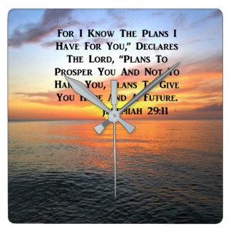 RELOJ CUADRADO SALIDA DEL SOL EN LA ESCRITURA DEL 4:13 DE LOS