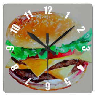 Reloj Cuadrado servido muy rápidamente