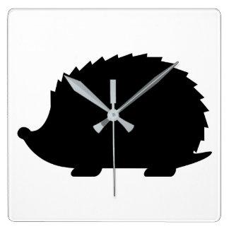 Reloj Cuadrado Silueta del erizo
