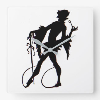 Reloj Cuadrado silueta del mago de los años 20