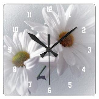 Reloj Cuadrado Sobre todo blanco