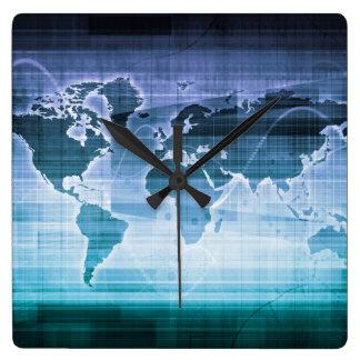 Reloj Cuadrado Soluciones globales de la tecnología