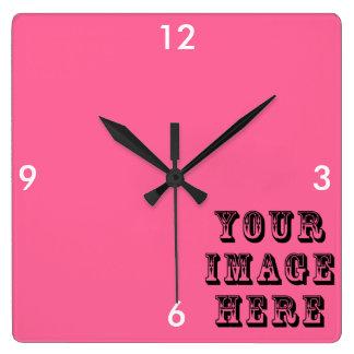 Reloj Cuadrado Su imagen aquí