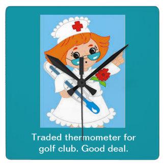 Reloj Cuadrado Termómetro negociado para el club de golf - buen