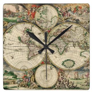 Reloj Cuadrado Terrarum Orbis Tabula