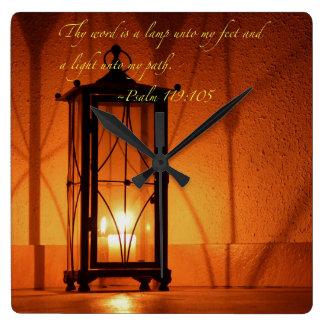 Reloj Cuadrado Thy palabra es una lámpara…