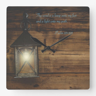 Reloj Cuadrado Thy palabra es una lámpara