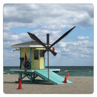 Reloj Cuadrado Tiempo de la playa