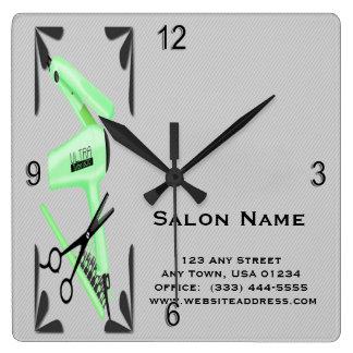 Reloj Cuadrado Tijeras del hierro que se encrespa del secador de