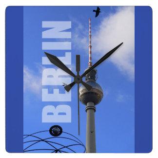 Reloj Cuadrado Torre 01,3 de BERLÍN TV