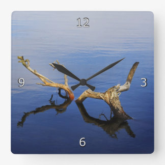 Reloj Cuadrado Tranquilidad del borde de los lagos