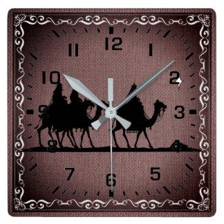 Reloj Cuadrado Tres hombres sabios
