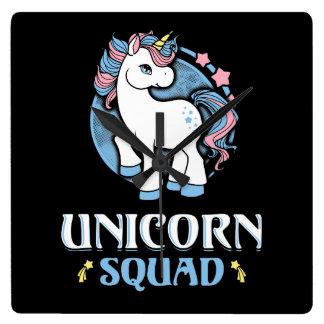 Reloj Cuadrado Unicornio comando