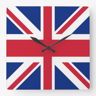 Reloj Cuadrado Union Jack - bandera del Reino Unido