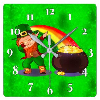 Reloj Cuadrado Verde claro