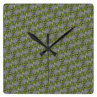 Reloj Cuadrado Verte Brickism