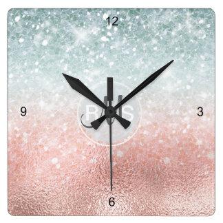 Reloj Cuadrado Vidrio combinado ID434 de la pendiente del