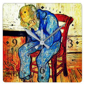 Reloj Cuadrado Viejo hombre Sorrowing de Van Gogh