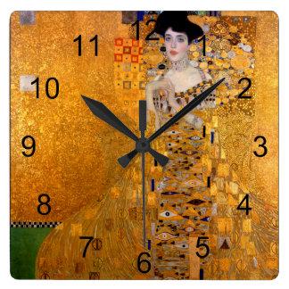 Reloj Cuadrado Vintage del retrato de Gustavo Klimt Adela