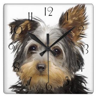 Reloj Cuadrado Yorkshire Terrier magnífico