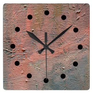 Reloj de acrílico abstracto de Impasto