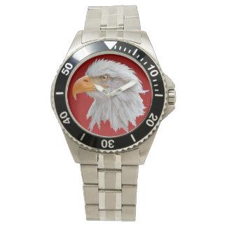 Reloj de Alaska de Eagle calvo (rojo)
