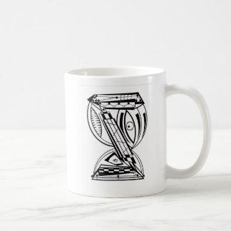 Reloj de arena taza de café