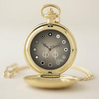 Reloj De Bolsillo 12 dígito centesimal Fibonacci Seq (FB) por K