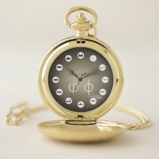 Reloj De Bolsillo 12 dígito centesimal Fibonacci Seq (frecuencia