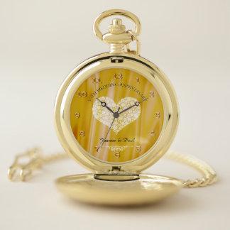 Reloj De Bolsillo 50.o Recuerdo del aniversario de boda de oro