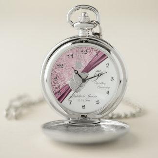 Reloj De Bolsillo 5to Aniversario de boda rosado