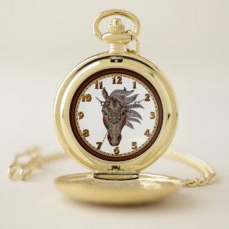 Reloj de bolsillo adorable del caballo del