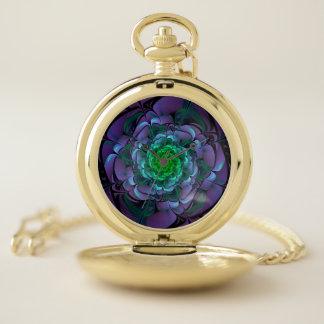 Reloj De Bolsillo Aeonium púrpura y verde hermoso Arboreum Zwartkop