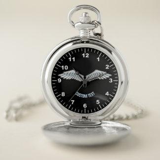 Reloj De Bolsillo alas Azul-grises