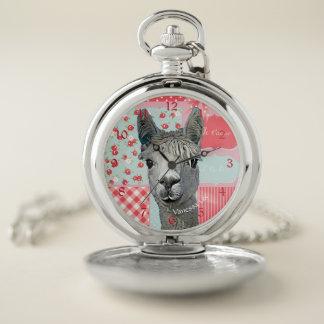 Reloj De Bolsillo Alpaca en rosa