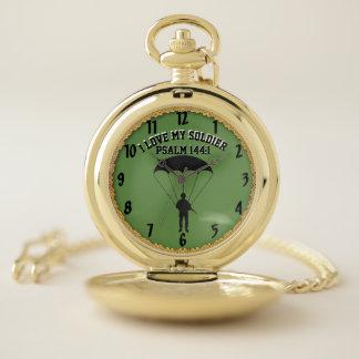 Reloj De Bolsillo Amo a mi paracaidista 4 del 144:1 del salmo del