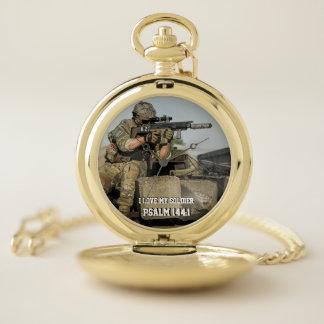 Reloj De Bolsillo Amo mis armas del 144:1 m60 del salmo del soldado
