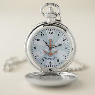 Reloj De Bolsillo Ancla con la cadena