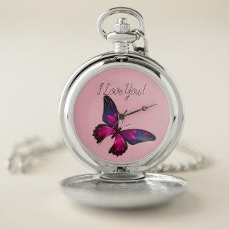 Reloj De Bolsillo Animales de la vida del amor de las memorias del