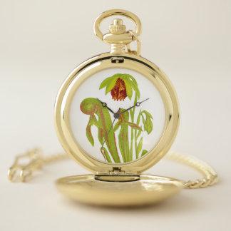 Reloj De Bolsillo Arte botánico carnívoro de la planta de jarra de